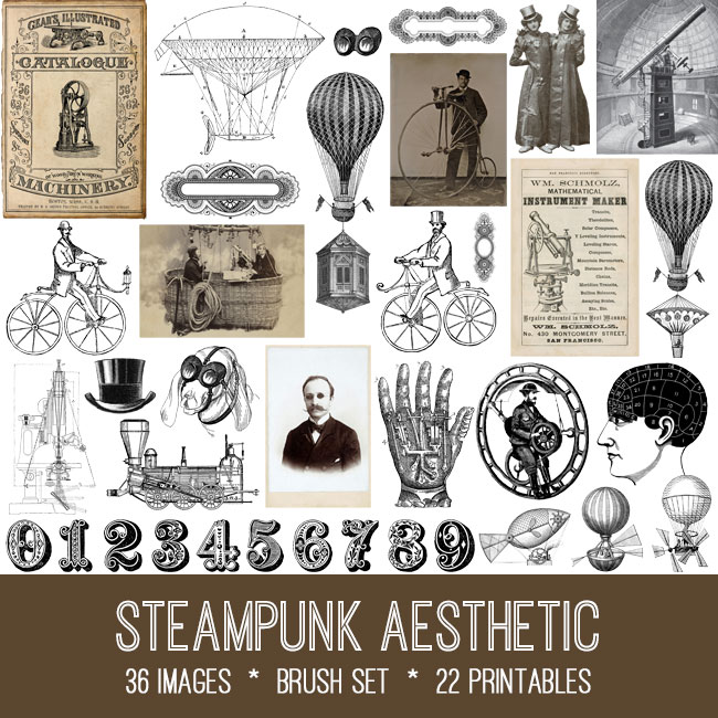 Steampunk Aesthetic vintage images