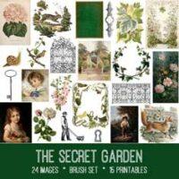 the secret garden vintage ephemera bundle