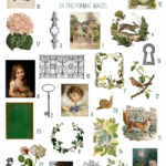 vintage the secret garden ephemera digital image bundle