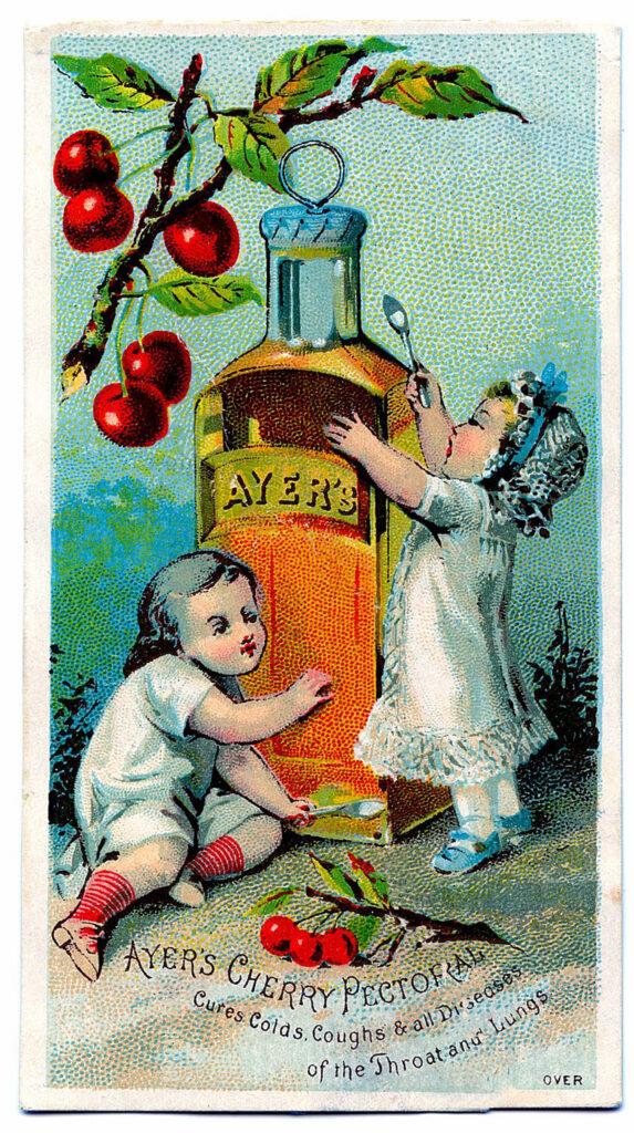 babies medicine bottle cherries image