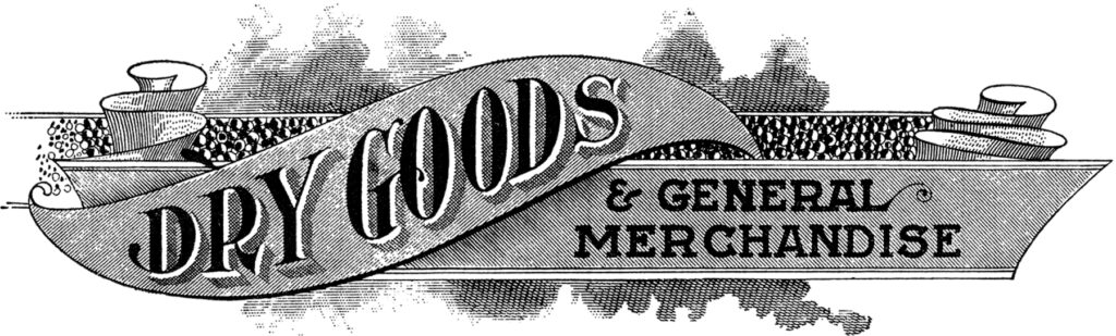 antique trade sign dry goods clipart