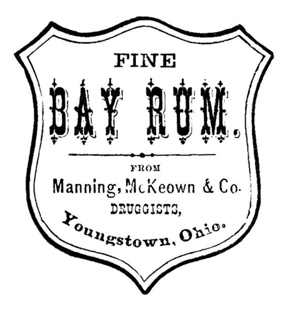bay rum label illustration