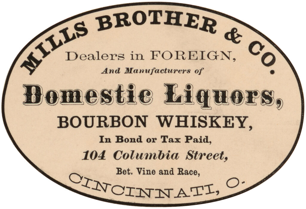 antique bourbon whiskey label image