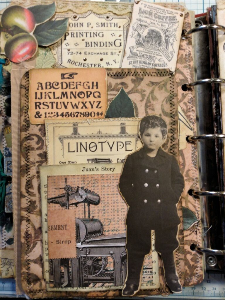 typesetter boy journal page