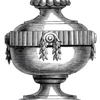 elaborate carved urn image