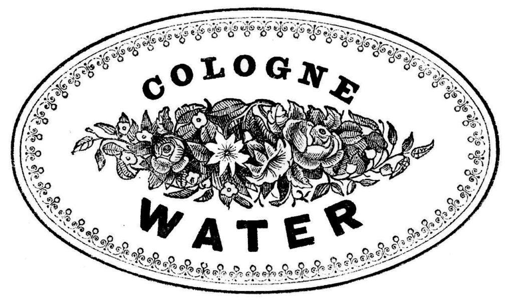 Cologne Water black white label image