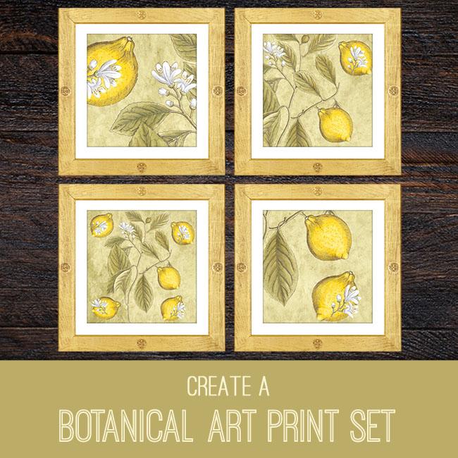 PSE tutorial botanical art print set