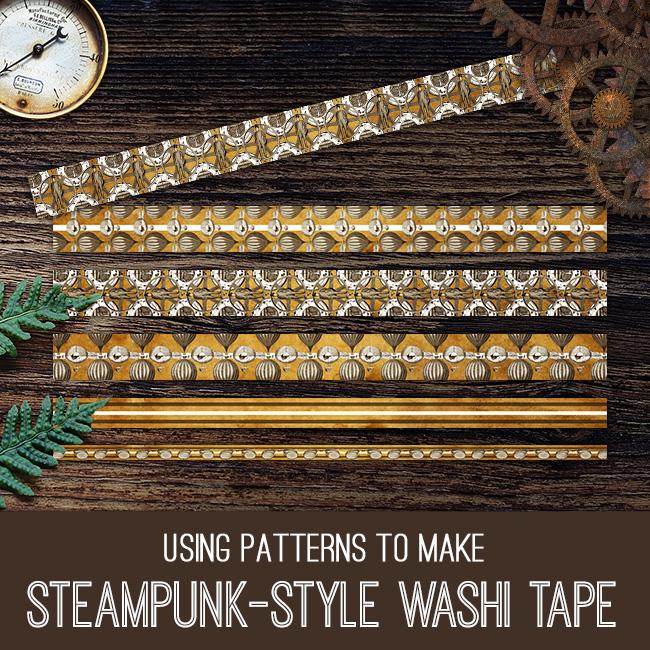 PSE tutorial Steampunk-Style Washi Tape