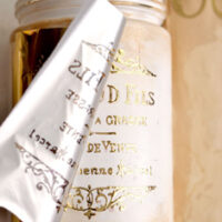 gold foil on jar