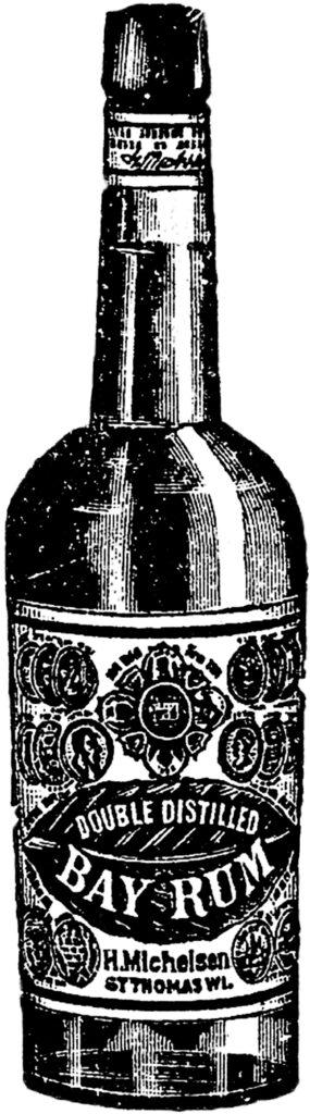 vintage bottle bay rum image