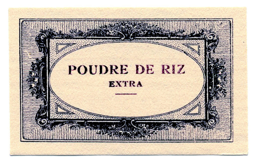 antique French rice powder image