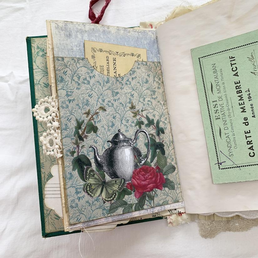 Garden Tea Party teapot journal page