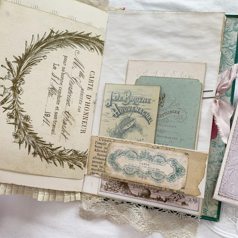 French Ephemera Journal Pocket