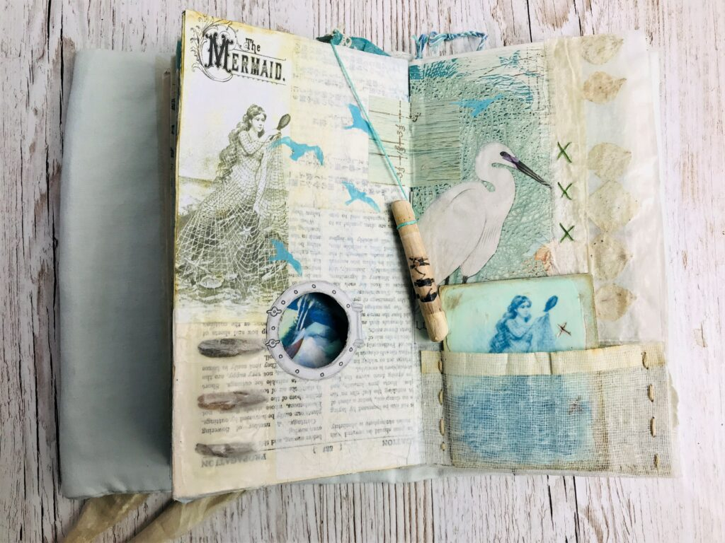 seed pod journal page embellishments