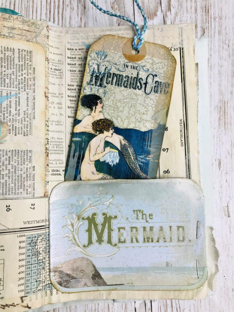 mermaid journal pocket journaling card