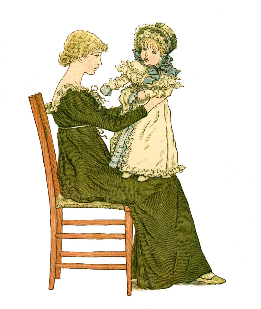 Mother with Toddler on Lap Image
