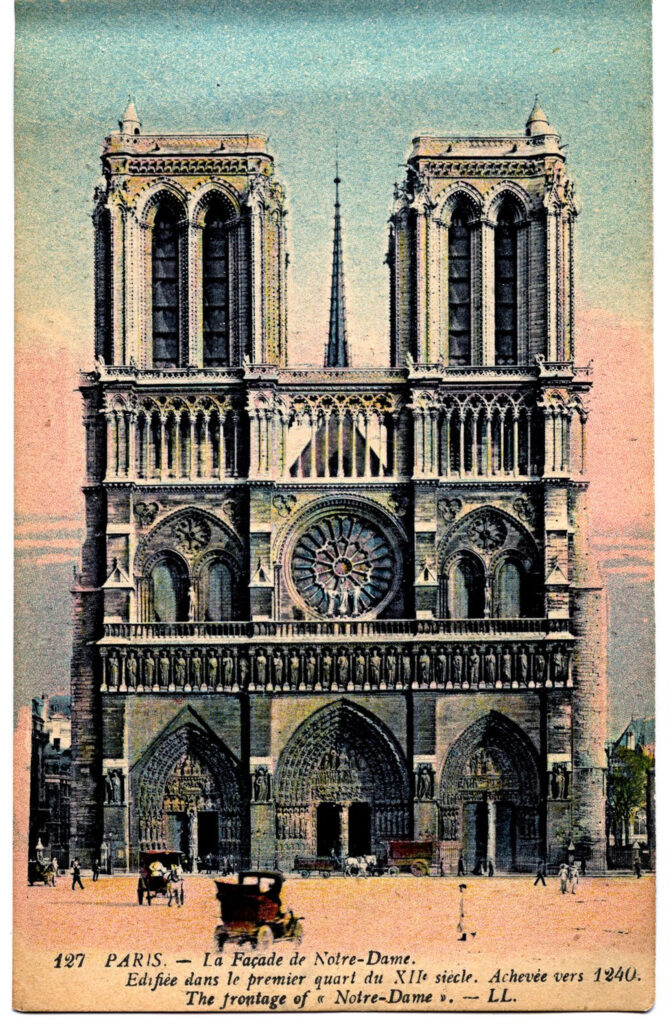 Note Dame Paris Cathedral image