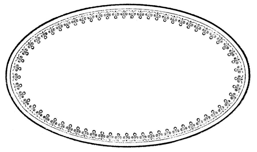 oval frame blank label clipart