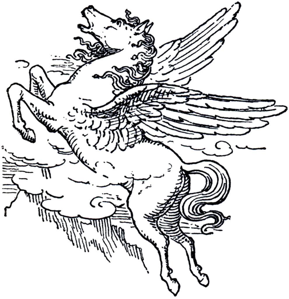 Pegasus vintage illustration
