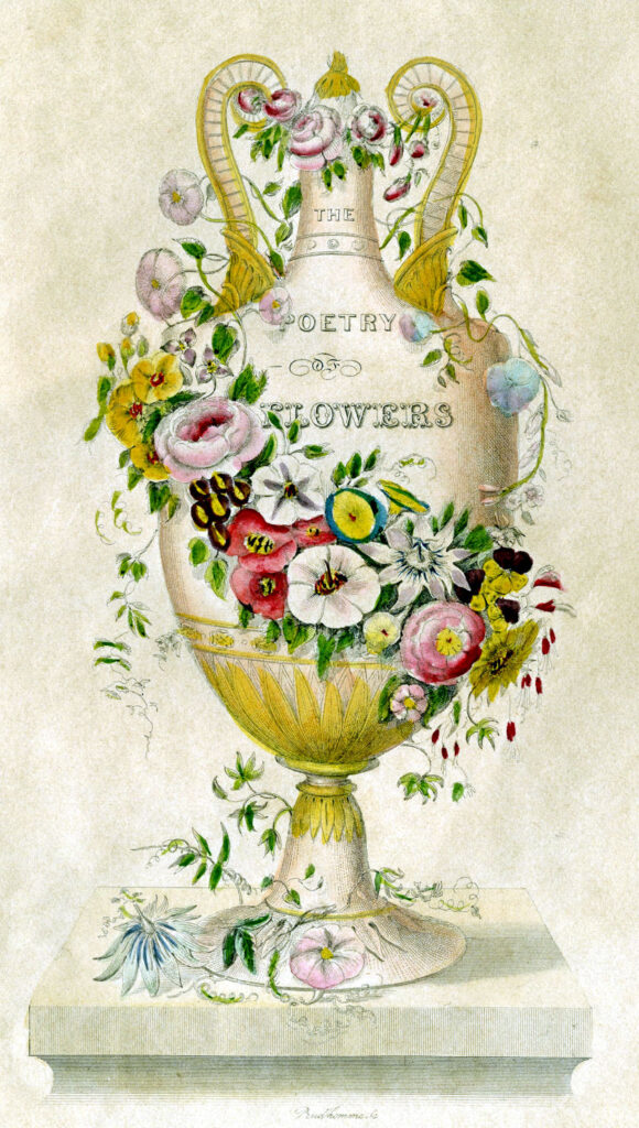 poetry of flowers urn antique image