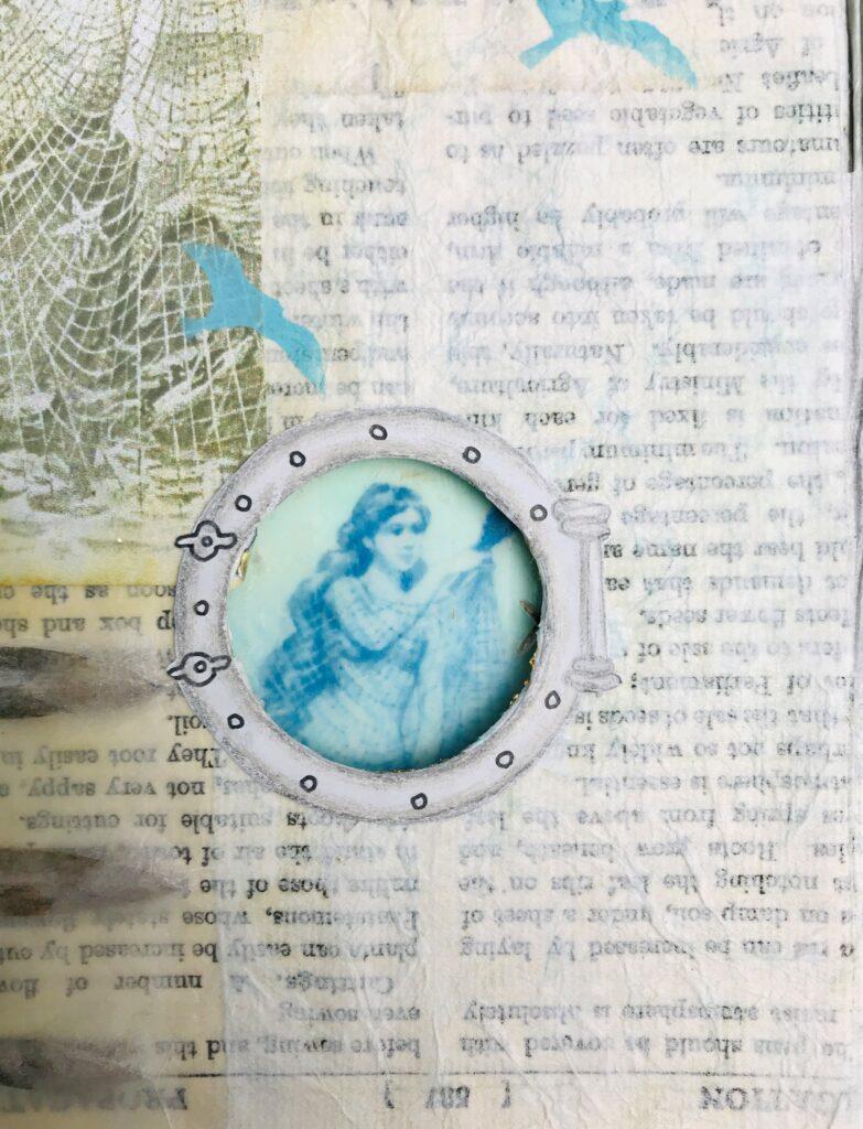 Junk Journal Porthole page