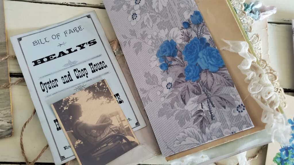 pretty blue wallpaper journal page