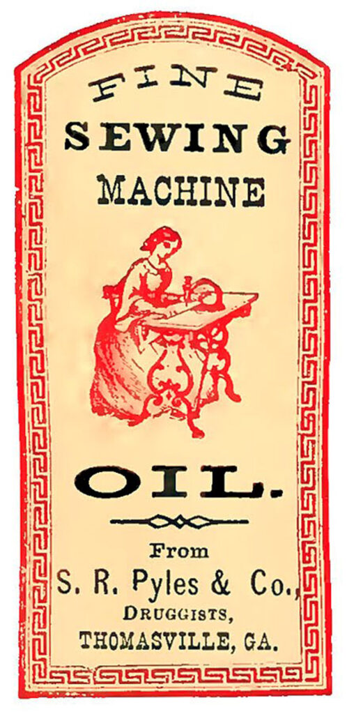 vintage sewing machine oil image