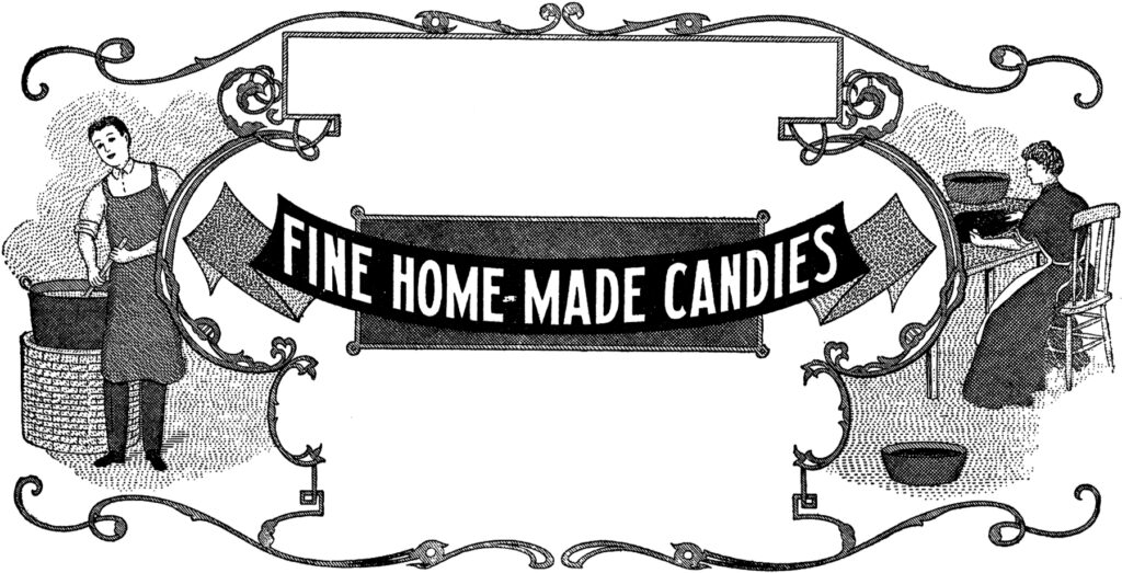vintage homemade candy label image