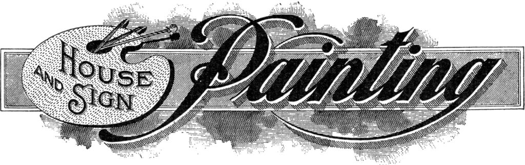 vintage painting typography trade sign image