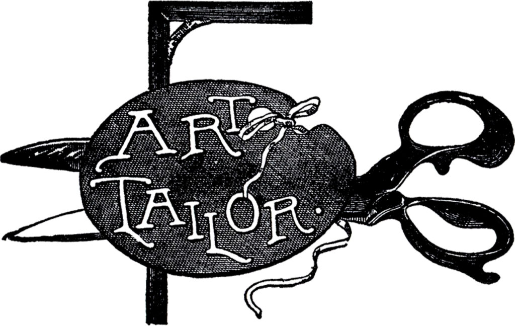 vintage tailor advertising sign clipart
