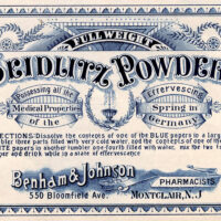 vintage apothecary label illustration