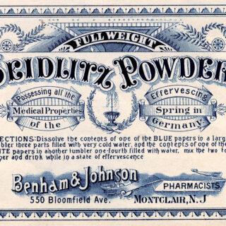 vintage apothecary label illustration