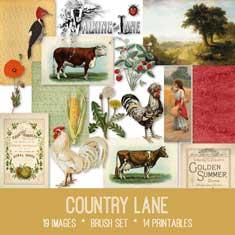 vintage Country Lane ephemera bundle