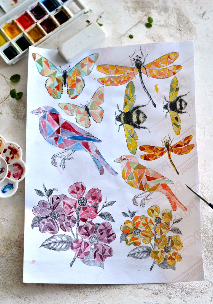 DIY Faux Stained Glass Vintage Stickers