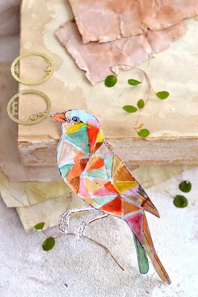 making bird stickers