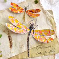 2 Paper dragonflies