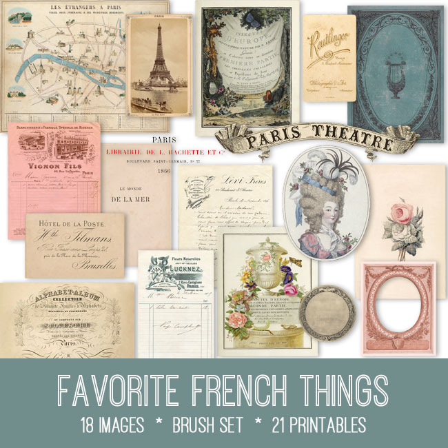 favorite French things vintage images
