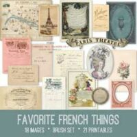 vintage favorite French things ephemera bundle