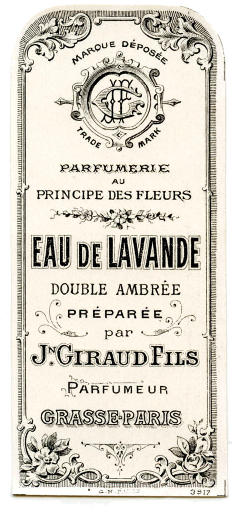 French lavender perfume label image