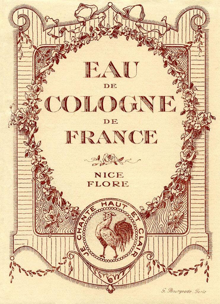 eau de cologne France sepia image