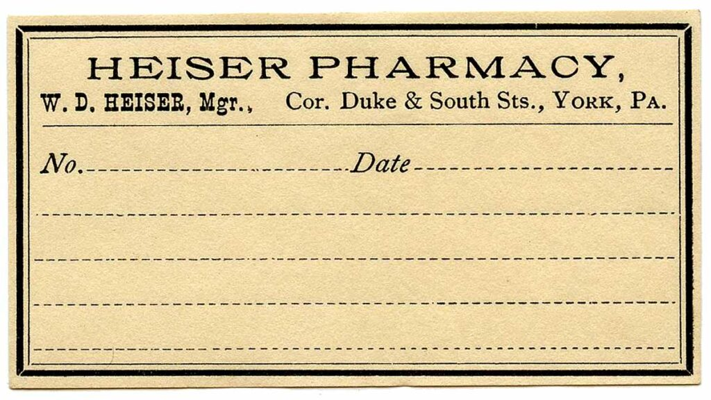antique blank pharmacy label clipart