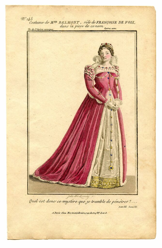 queen pink gown printable clipart