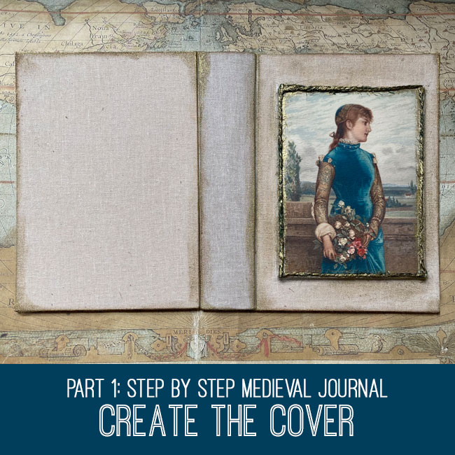 Step by Step Medieval Journal Create the Cover