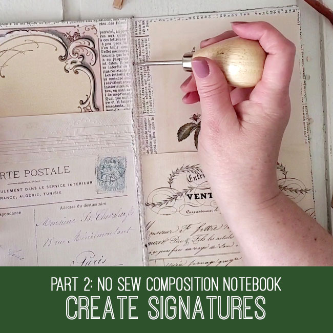 no sew composition notebook create signatures tutorial