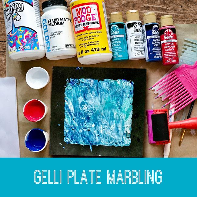 Gelli Plate Marbling tutorial