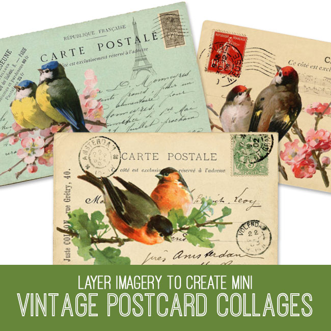 PSE tutorial vintage postcard collages