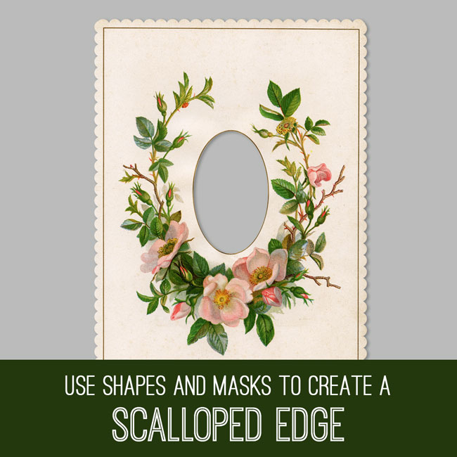 PSE Tutorial create a scalloped edge