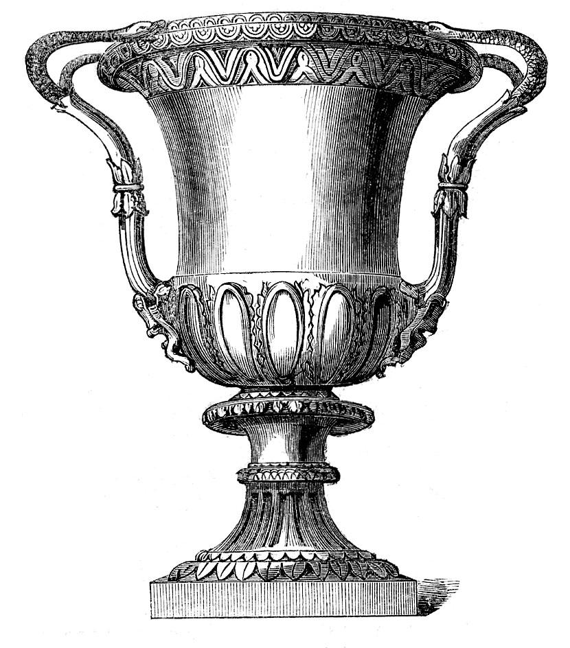 vintage urn handles clipart