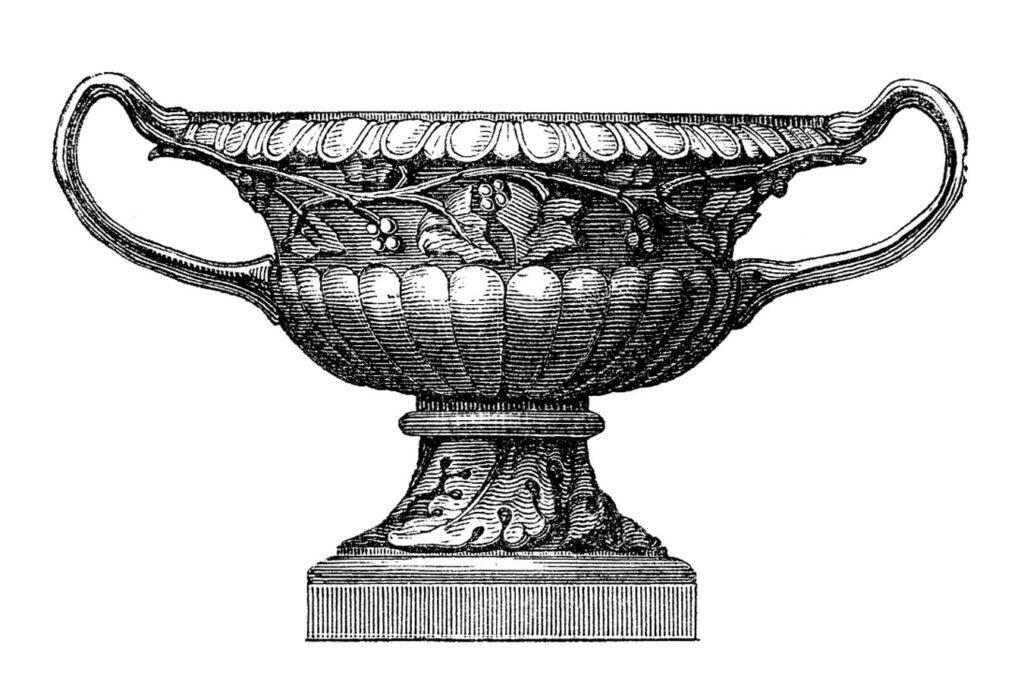 urn handles vintage image