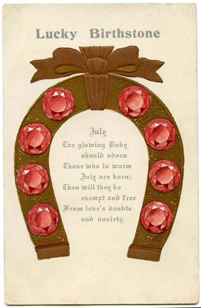 July Ruby Birthstone